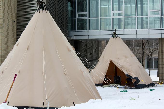 屋外用暖房テント
